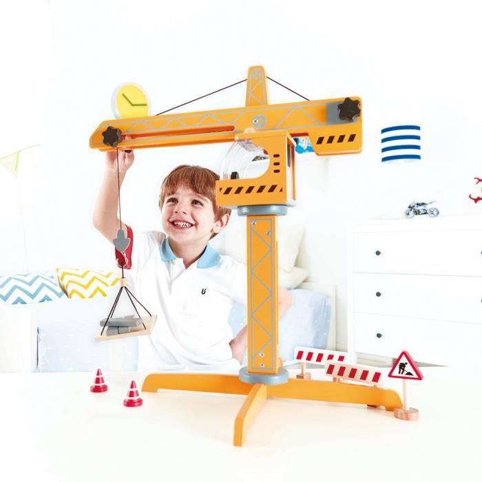 Camions et engins de chantier jouets Grue Hape E3011