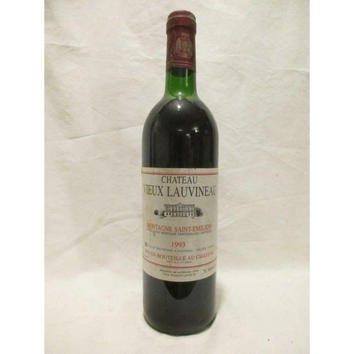 montagne saint-émilion château vieux lauvineau (b2) rouge 1993 - bordeaux france