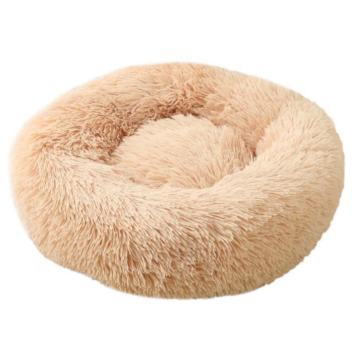Panier en peluche pour chiens et chats, lit pour grands chiens, Long, calmant, niche pour ani apricot XS Diameter 40cm -SA24237