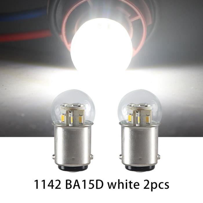BA15D 6000K 6v -Clignotant LED S25 P21W BA15S 1156 1157 BAY15D BA15D Dc 6v 12v 24v 36v 48v, 2 pièces, feu de recul pour voiture