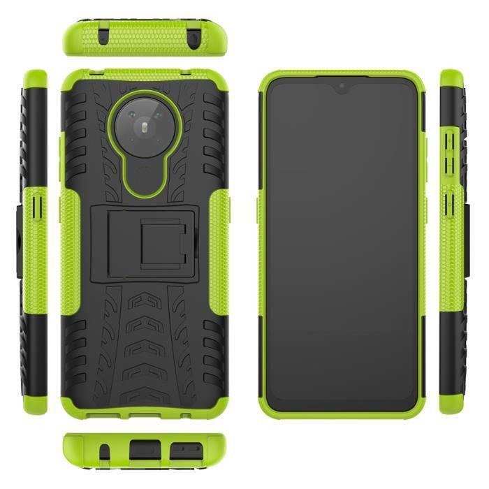 Coque pour Nokia 5.3 Coque,Coque bumper(Green)
