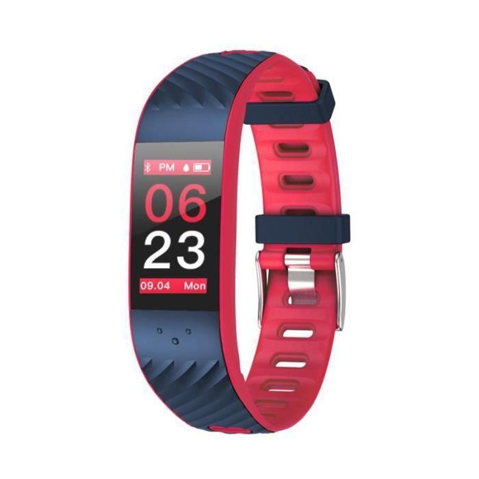 Bracelet d'activité SMARTFIT - Bluetooth - IP67 - LCD - 3 jours - fréquence cardiaque - rouge - Cellys
