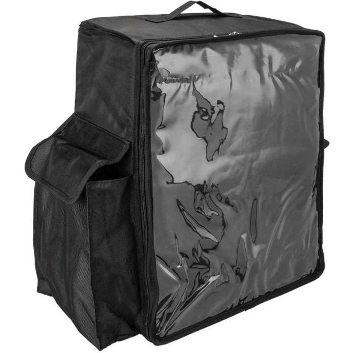 CityBAG Sac à dos isotherme 49 x 50 x 23 cm noir pour la livraison des commandes de nourriture en moto et vélo