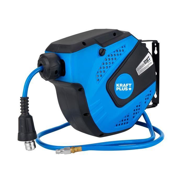 KRAFTPLUS® K.932-9710 Enrouleur à tambour fermé pour air comprimé 1/4-, 10 m, auto-rétractable