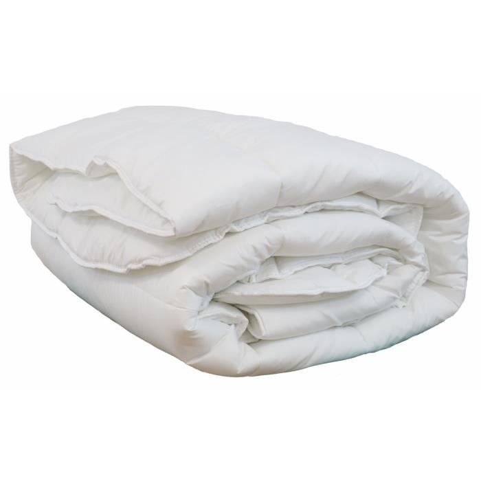 LINANDELLE - Couette blanche synthétique 550gr hiver OLYMPE - Blanc - 240x260 cm