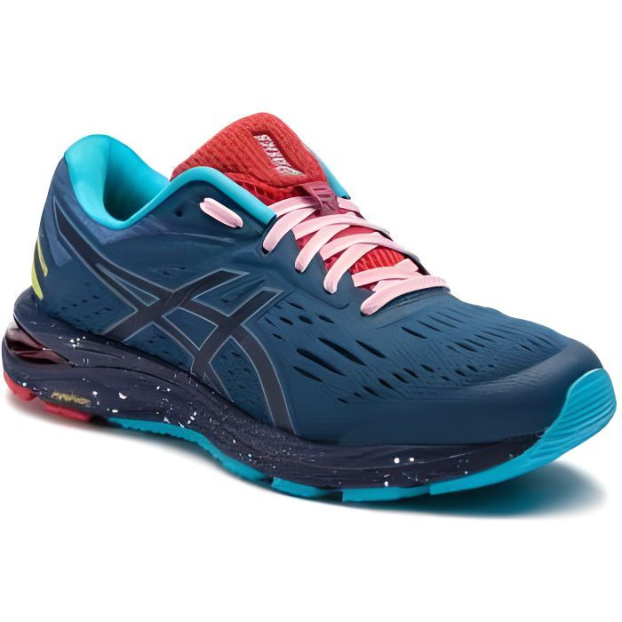 Chaussures Running ASICS Homme GEL-CUMULUS 20 LE Bleu/Turquoise/Rouge PE 2019