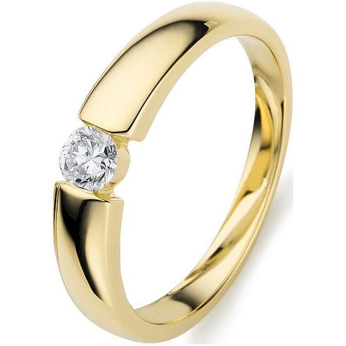 Diamond Group - bague en diamant - Femme - anneaux - diamant si - 0.21 ct. - 750 - - or jaune - 1A356G8