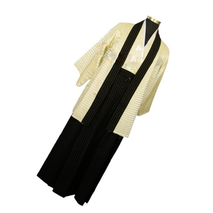 1 ensemble Japonais Costume de Samouraï Kimono Robe pour Mâle Petits Amis Hommes Mari BLOUSON - PERFECTO - BOMBER