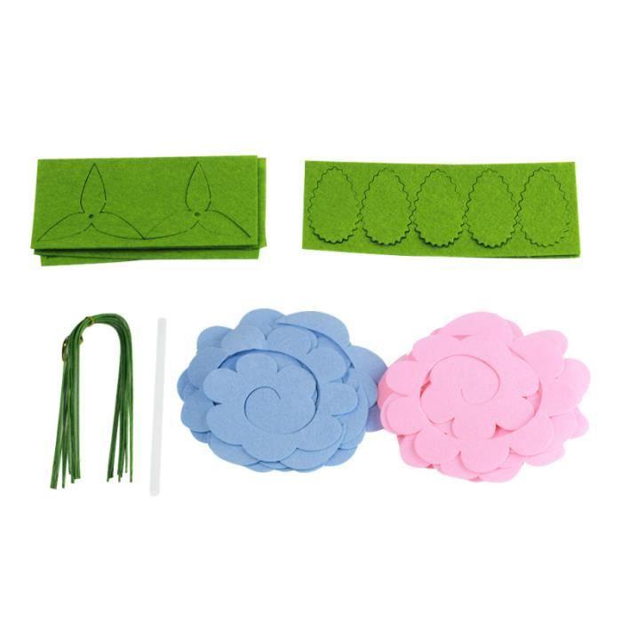 19 pièces Bouquets Non tissés sans coupe Rose fleur bricolage tissus travail manuel matériel tissu artisanat couture SAC A DOS
