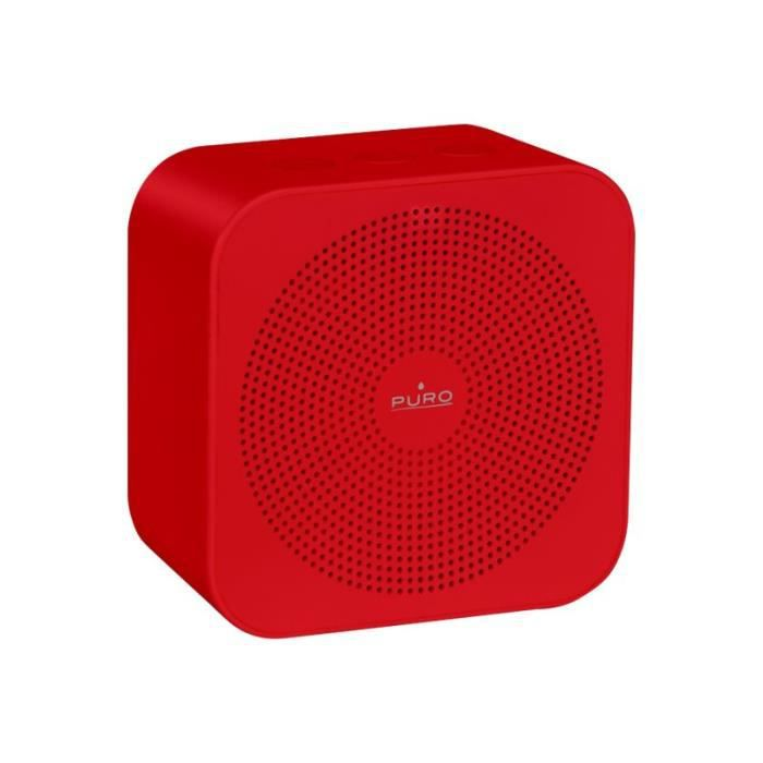 PURO - Enceinte nomade rechargeable Bluetooth V 4.2 - Rouge