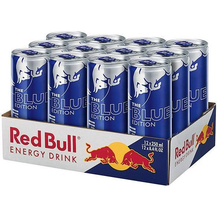 Red Bull Energy Drink The Blue Edition myrtille 12 x 0,25l