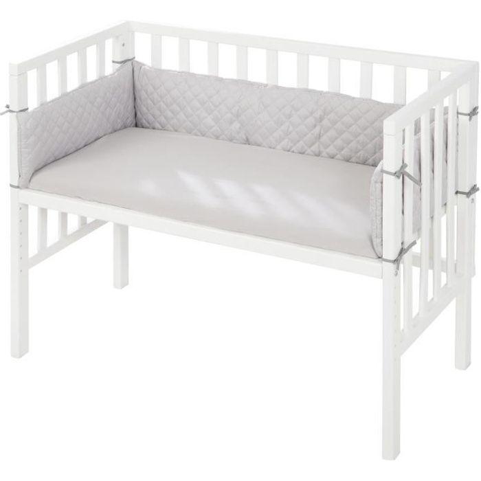 ROBA Berceau cododo -roba Style- 2 en 1 blanc - 45 x 90 cm - avec matelas, tour de lit et barrière