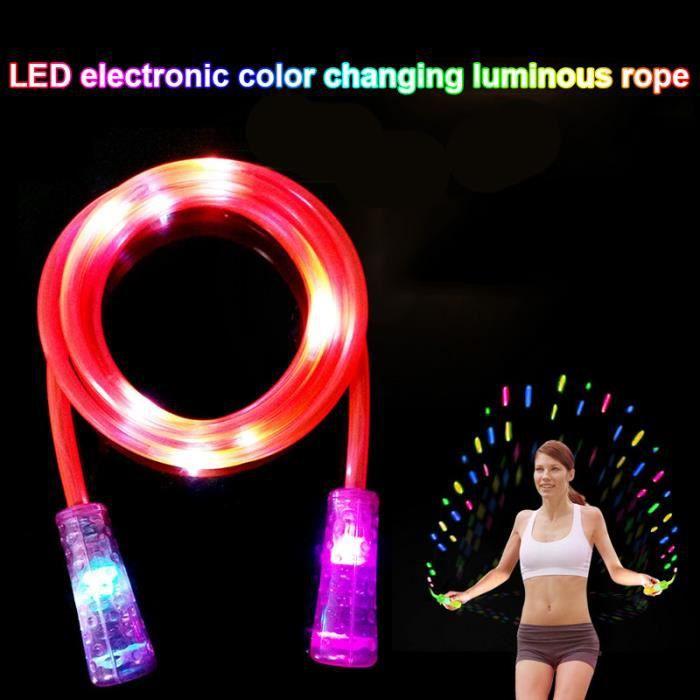 Corde à sauter Exercice Fitness avec LED lumière