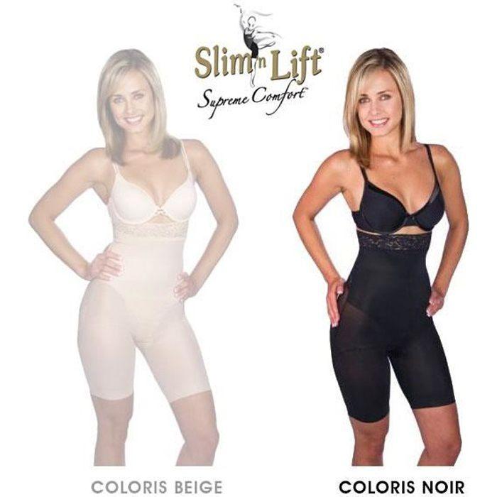 Panty Slim N Lift Gaine Amincissante Effet Minceur et Galbant Couleur Noir - Taille XL