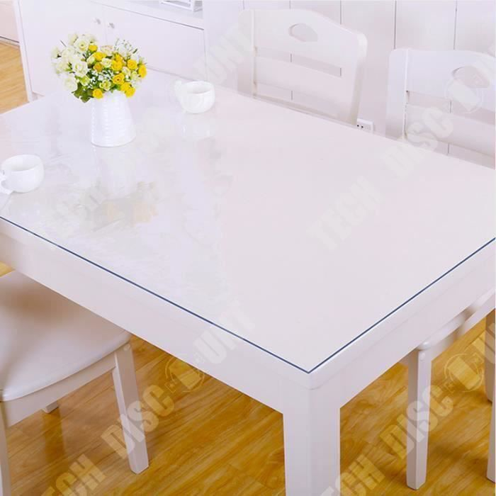 TD® Nappe de table transparente idéale pour table maison salon cuisine protection intérieur anti tâche garder cuisine maison propre
