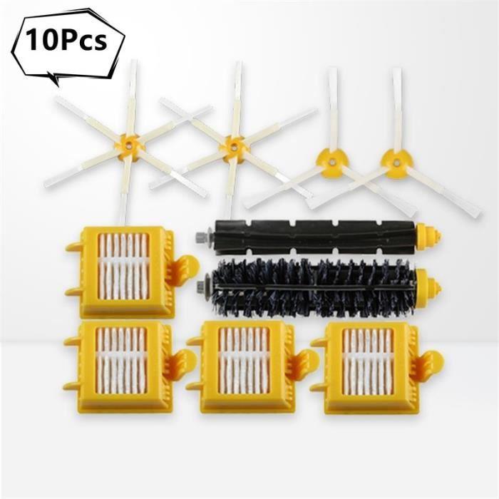 Full Set 10 Pcs -Ensemble complet de 10 pièces d'accessoires pour aspirateur Robot iRobot Roomba série 7,brosse + filtre,700 720 7