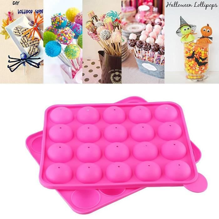 Neuf lollipop mould mold plastique sticks lot de 6 variété quantité cake pop