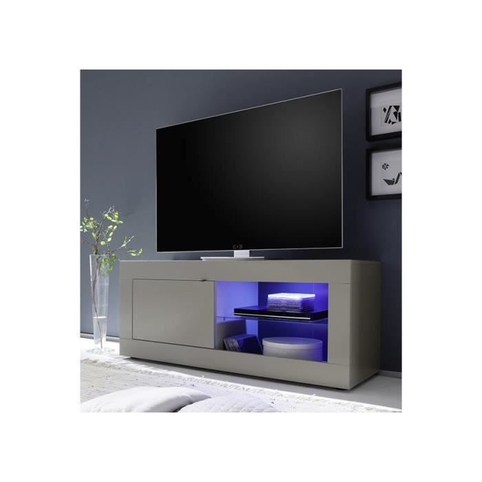 meuble tv taupe et weng tika 140 cm achat vente meuble tv meuble tv taupe et weng ti. Black Bedroom Furniture Sets. Home Design Ideas