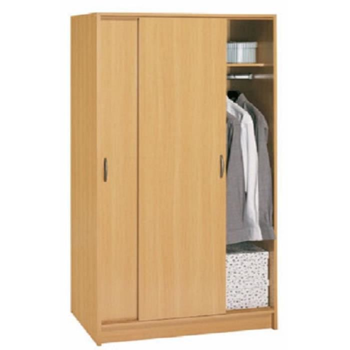 armoire 2 portes coulissante achat vente armoire de chambre armoire 2 portes coulissant. Black Bedroom Furniture Sets. Home Design Ideas