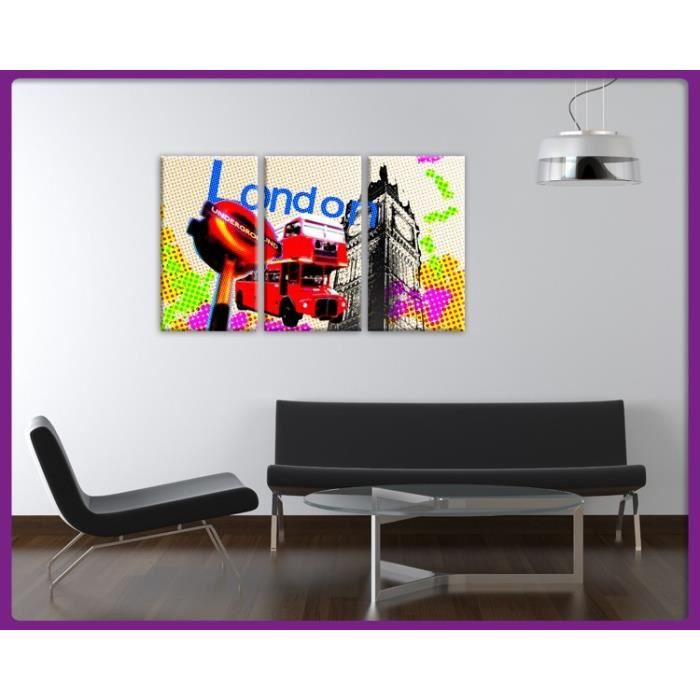 Bilderdepot24 impression sur toile london londres pixel for Tableau impression sur toile