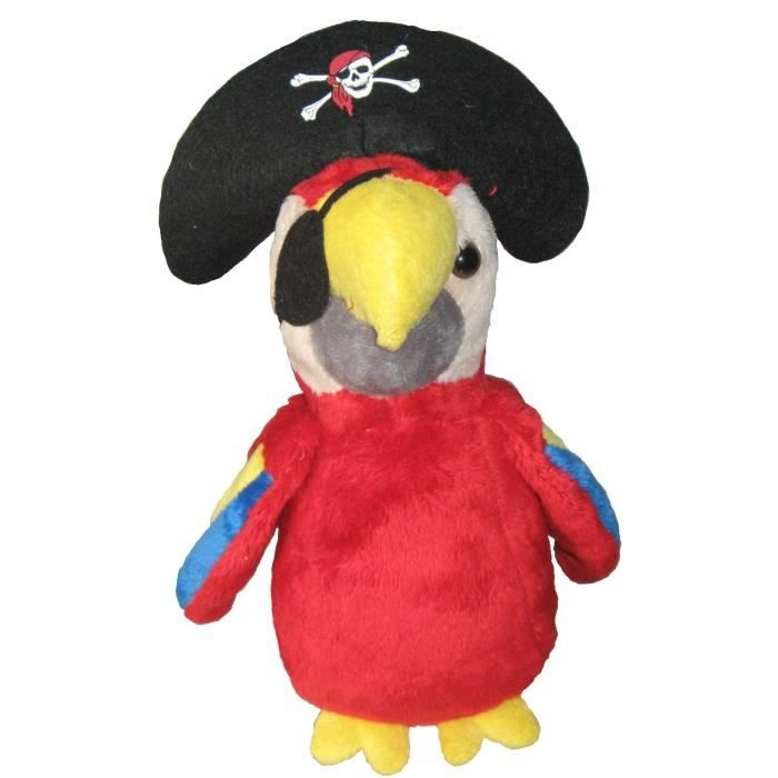 peluche perroquet pirate 25 cm achat vente peluche soldes cdiscount. Black Bedroom Furniture Sets. Home Design Ideas