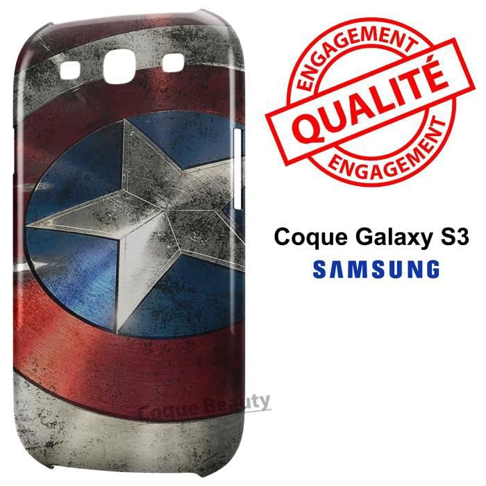 coque galaxy s3 captain america bouclier achat coque. Black Bedroom Furniture Sets. Home Design Ideas