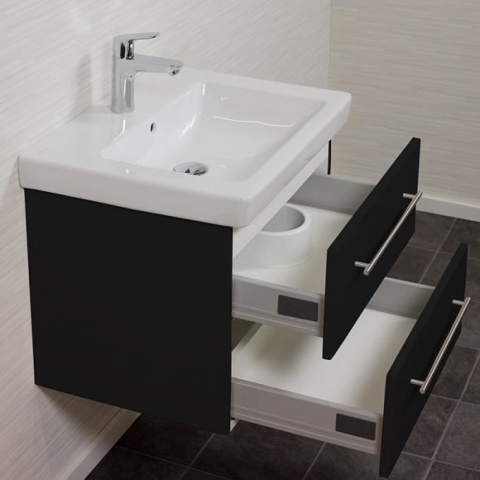 Villeroy boch subway 2 0 60 cm noir aspect af achat for Meuble subway villeroy et boch