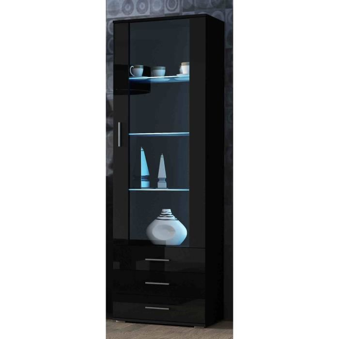 meuble vitrine design sano noir achat vente vitrine argentier meuble vitrine design sano. Black Bedroom Furniture Sets. Home Design Ideas