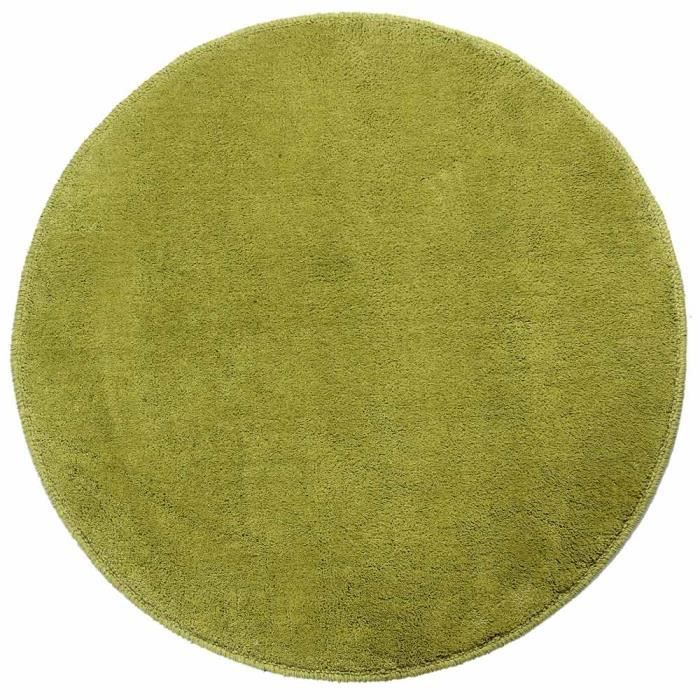 tapis rond tuft coloris vert 150 cm de diam tre achat vente tapis cdiscount. Black Bedroom Furniture Sets. Home Design Ideas