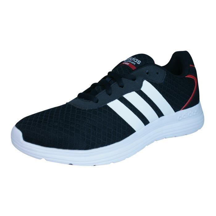 adidas Neo Cloudfoam Speed Hommes Courir Baskets Chaussures Noir 8.5