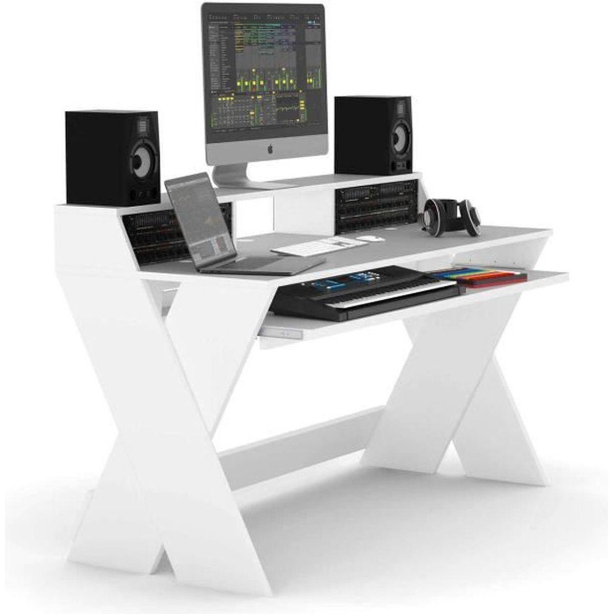 Glorious Sound Desk Pro Blanc Mobilier Pour Dj Mobilier Home Studio Avis Et Prix Pas Cher Cdiscount