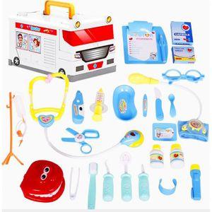 DOCTEUR - VÉTÉRINAIRE 25 bleu ambulance docteur jouet set enfants jouer