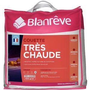 COUETTE BLANREVE Couette très chaude 220x240 cm blanc