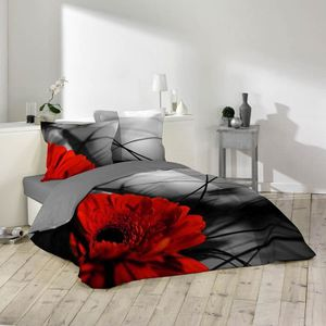 HOUSSE DE COUETTE SEULE Housse de couette Milly 240x260cm 100% coton Noir,