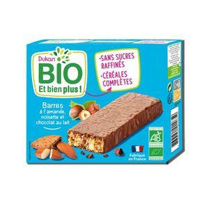BISCUITS DIÉTÉTIQUES DUKAN Barres Bio aux amandes - Chocolat et noisett