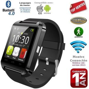 MONTRE CONNECTÉE Montre connectée U8+ noir Bluetooth iPhone,Samsung