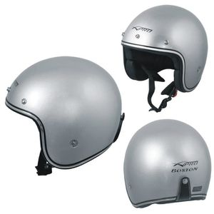 Folconauto Casque de Scooter Moto Bleu XL Casque de Moto Crash Jet Open Face
