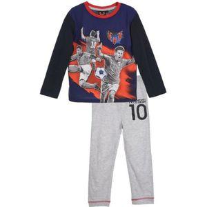PYJAMA Pyjama long  FC Barcelone Messi bleu marine et rou