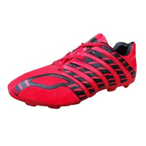 separation shoes b5eb1 35635 CHAUSSURES DE FOOTBALL Red Shoes Pu football féminin, crampons, chaussure