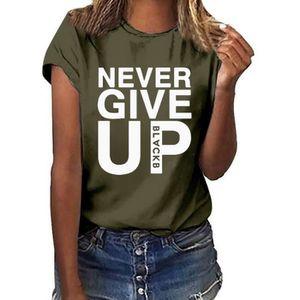 T-SHIRT Femmes Plus Size Imprimer manches courtes T-shirt