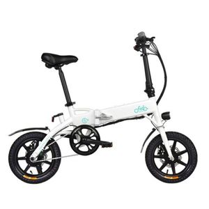 VÉLO ASSISTANCE ÉLEC Vélo Électrique Pliant VTT 10.4Ah 250W Moteur - Bl
