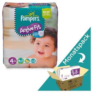 COUCHE 168 Couches Pampers Active Fit taille 4