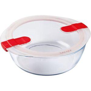 BOITES DE CONSERVATION PYREX - COOK&HEAT - Boîte ronde en verre avec couv