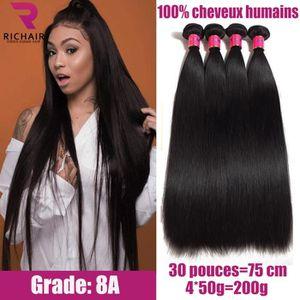 PERRUQUE - POSTICHE 4 tissage cheveux humains Extension cheveux lisses