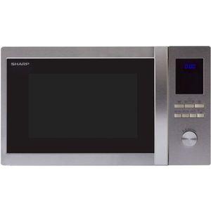 MICRO-ONDES SHARP R-922STWE - Micro ondes grill Inox - 32 L -