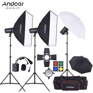 KIT STUDIO PHOTO Andoer Complet (300W * 3) Kit Flash Studio Photo a
