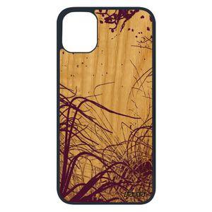 COQUE - BUMPER Coque bois naturel silicone pour Apple iPhone 11 p