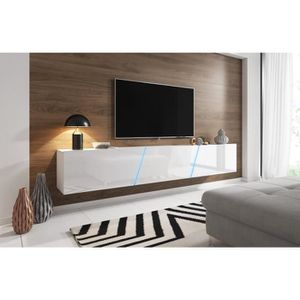 MEUBLE TV VIVALDI Meuble TV - SLANT 2 - 240 cm - blanc mat /