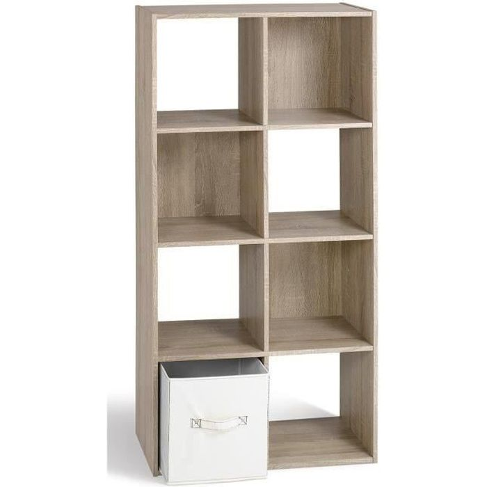 compo meuble de rangement vertical coloris ch ne l 62 cm achat vente petit meuble. Black Bedroom Furniture Sets. Home Design Ideas
