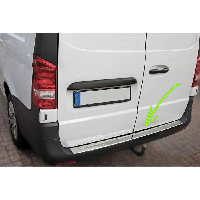 Protecteur Pare-Chocs Arrière Pour Vito Classe V W447 Depuis 2014 Acero Inoxydable Chromé Protection Pour Bord De L'Coffre De...